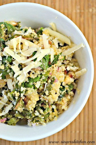 Cheesy Quinoa Pilaf with Swiss Chard 1