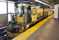 Work Train at Queensboro Plaza