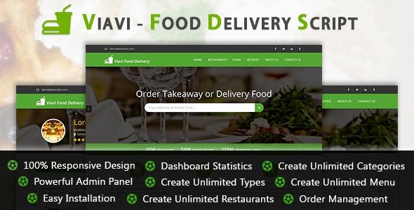 Viavi v1.0.2 - Food Delivery Script