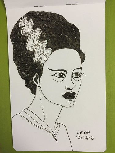 13 Inktober 2016 - Bride of Frankenstein