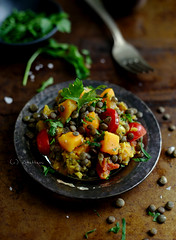 lentil- butternut squash curry
