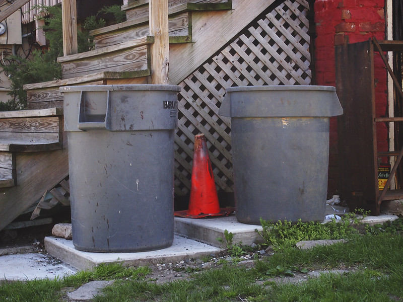 Garbage Cans with Cone