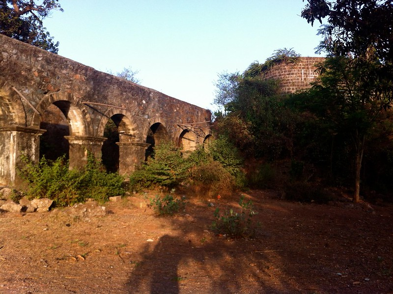 Ghodbunder Fort - Arches and bastion