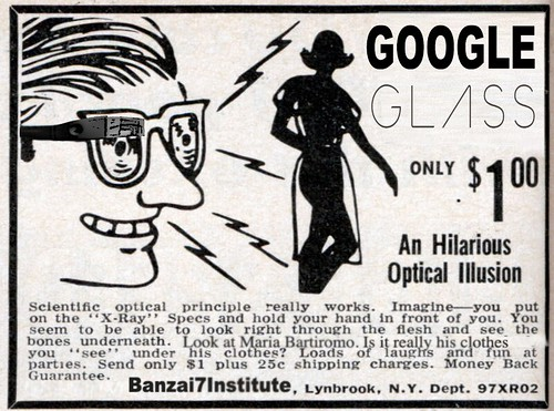 GOOGLE GLASS AD by WilliamBanzai7/Colonel Flick