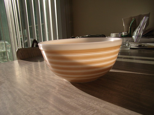 Pyrex Rainbow Stripe Tan 403