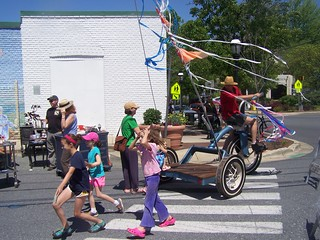 Super large tricycle, Takoma Park, Maryland