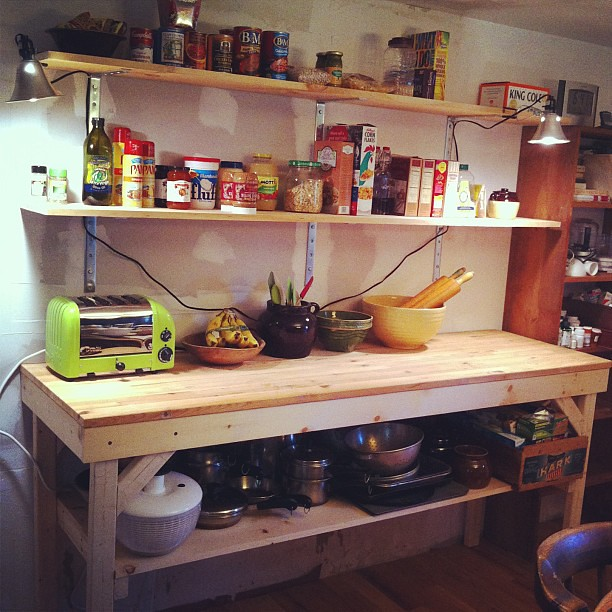 One side of the kitchen is built. Damn, we're good. #diy #homeimprovement #kitchen