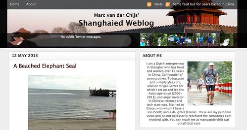 Old format of my blog (www.marc.cn): Shanghaied Weblog