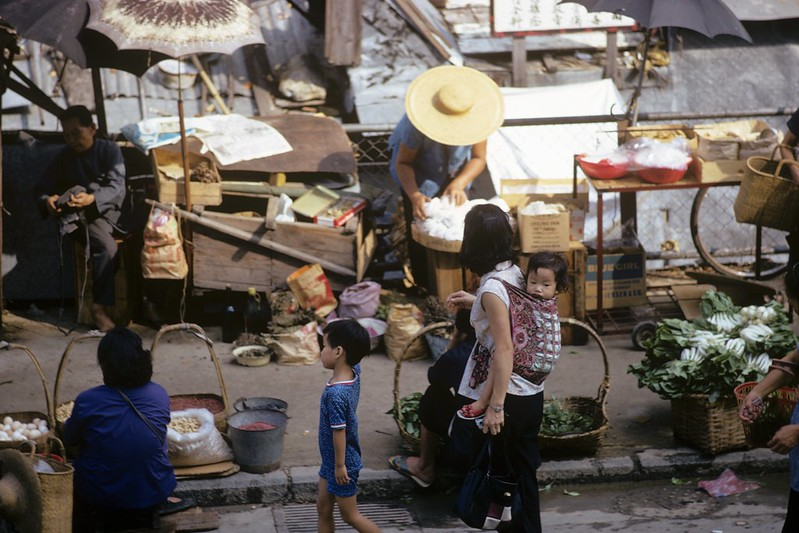 Hong Kong marketplace, 1972