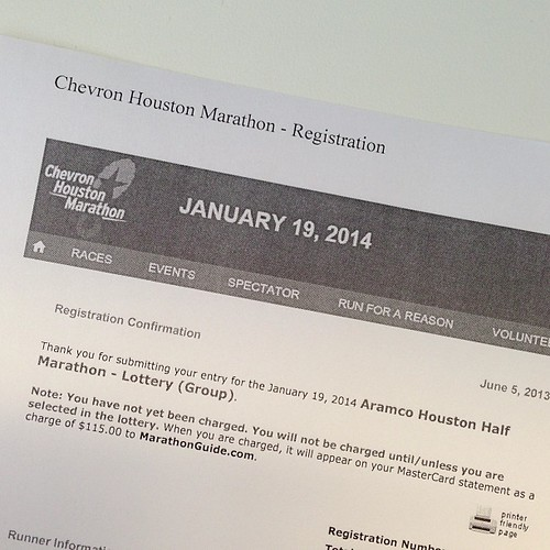 156:365 Applied for the half marathon lottery!