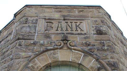 Old Bank Detail (Wainwright, Oklahoma)