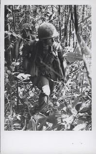 Marines Move Through Jungle Foliage, 26 April 1967