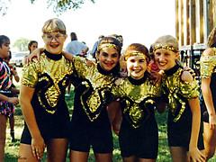 Girls Pose Before Dance Recital, Keller, 1995