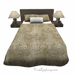 Modern Bed Set 3D Models - Olive
