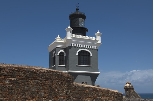 world ocean park old blue light sky lighthouse white house heritage architecture del de puerto grey bay design site san day juan carribean sunny el atlantic unesco rico clear national bahia moorish morro felipe castillo hdr farro nrpad