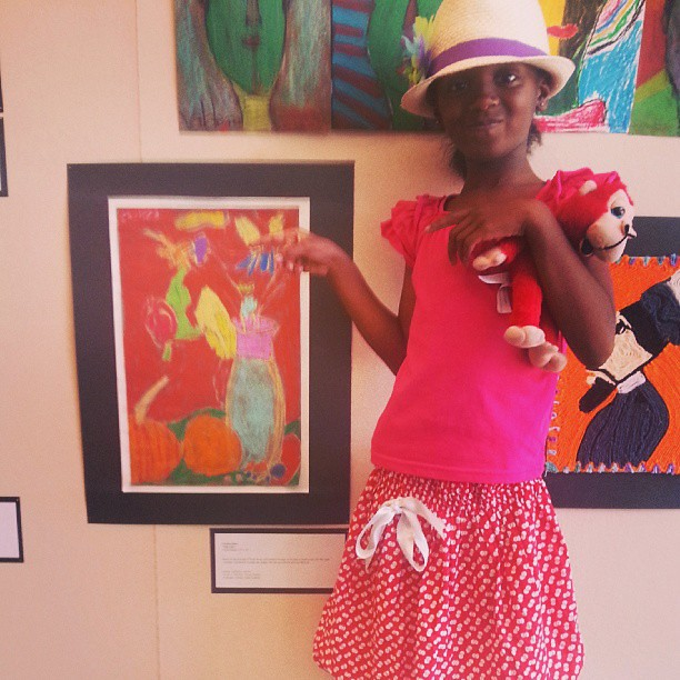 My daughter's artwork in an art gallery/exhibit!
