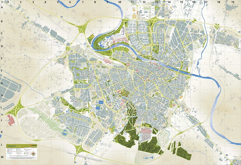 Maps of Zaragoza