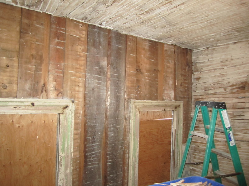 OLD House, Outside Walls, Plywood Sheathing Instead Of