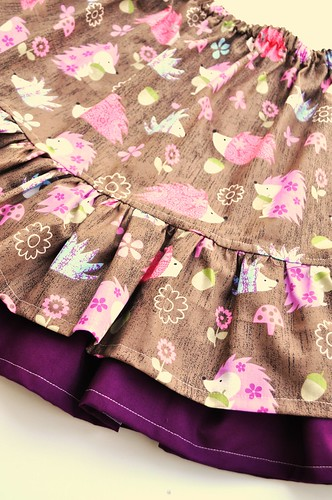 Pretty Hedgies Double Ruffle Shaylen Skirt *8/9*