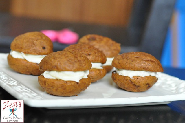 Mini pumpkin whoopie pie - Zesty South Indian Kitchen