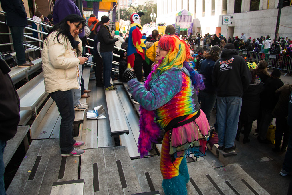Costumes during Mardi Gras Parades