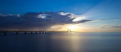 Oresound bridge facing Denmark