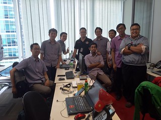 """Small Reunion"" Sharepoint and BI Team at one of our customer 