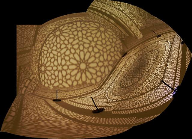 Photomerge distortion of ICA exhibit, Boston (2016)