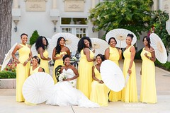 Every bride needs a moment like this with her #bridesmaids | Ena & Koffi | 💍  #GhanianWedding | Wedding dress👗: @bridalsbynatalie | makeup 💄: @shanddy_mua l Venue: @morais_wedding @moraisvineyards l bridesmaids dress: @iheartazazie #fb