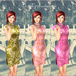 QiPao Rigged 3D Models
