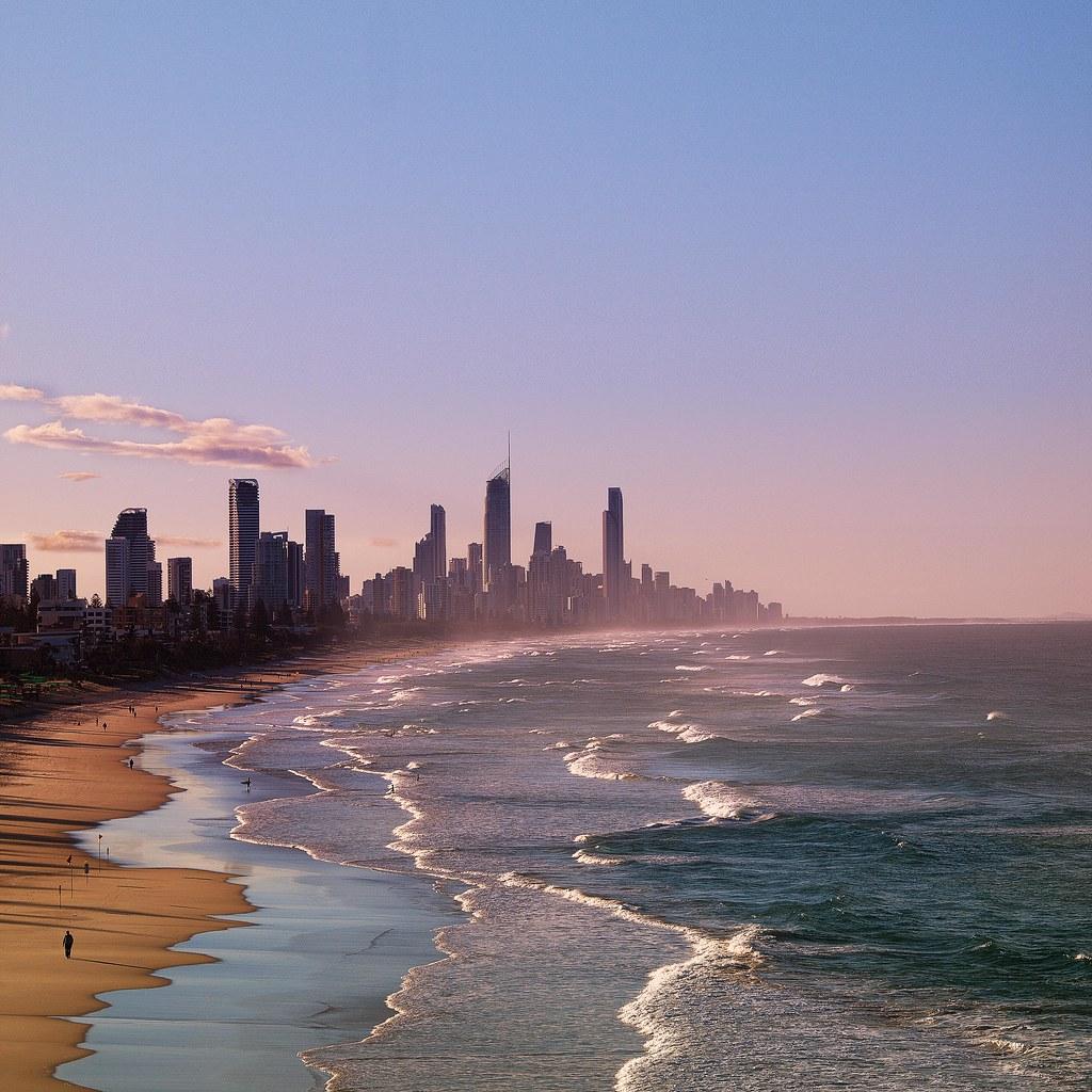 Ocean Floor Elevation : Elevation of robina qld australia topographic map
