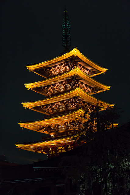Japan - Tokyo - Asakusa - Sensō-ji pagoda