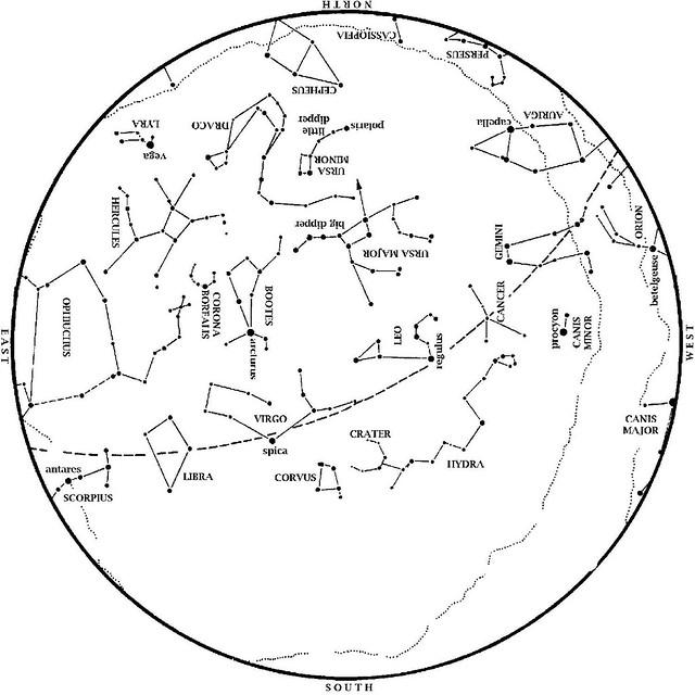 Sky Map: May 2013