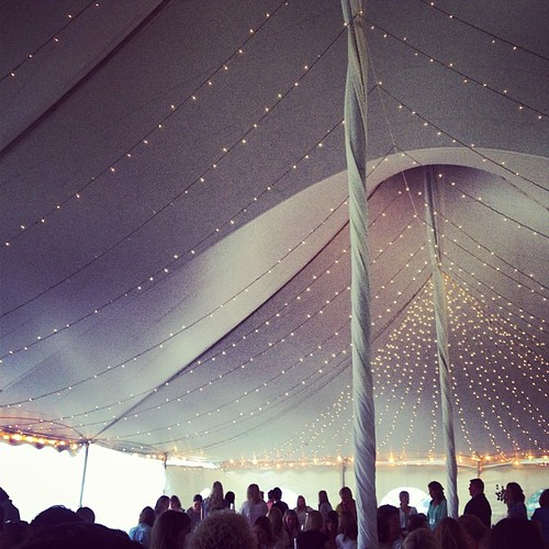 Lunch under the tent at #tscsummit. Rainy but yummy!