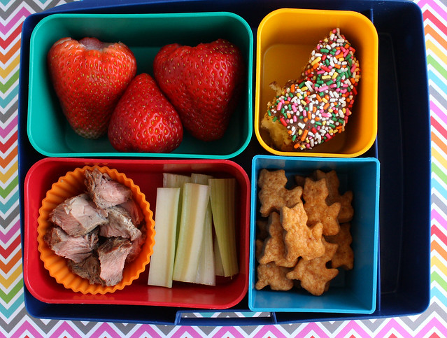 Third Grader Bento (with a donut!) #747