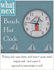 {what next} Beach Hut Clock - Beachconbers Hunt Gift