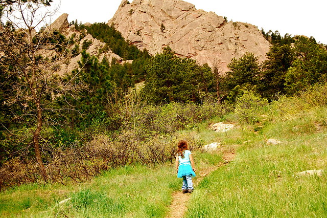 Approaching Flatirons - Hiking at Royal Arch, Boulder, CO