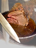 Aged Encrusted Sirloin Roast in pan w knife, 2 - v2857