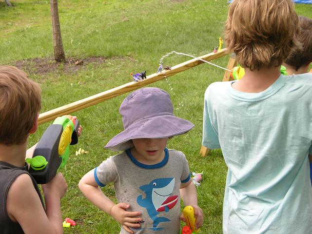2013 Linden Hills Festival water blasting targets
