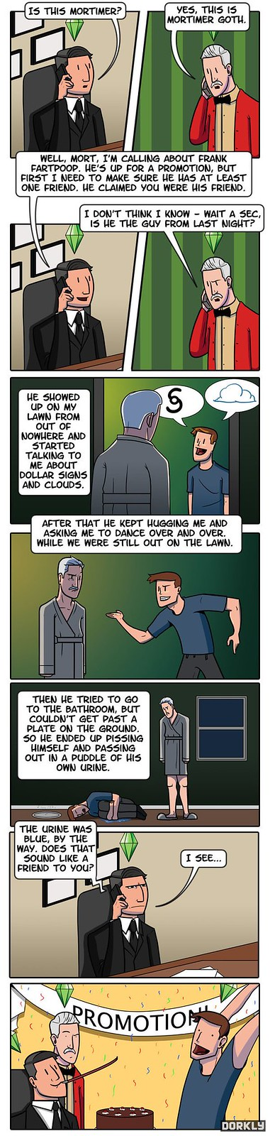 Dorkly/College Humor Sims Career Ladder