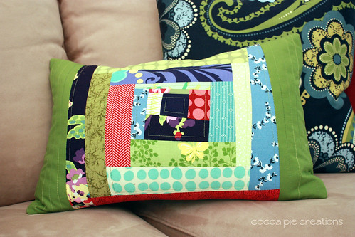 Wonky Log pillow cover wm