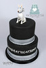 W9159-black-engagement-cake-toronto-oakville