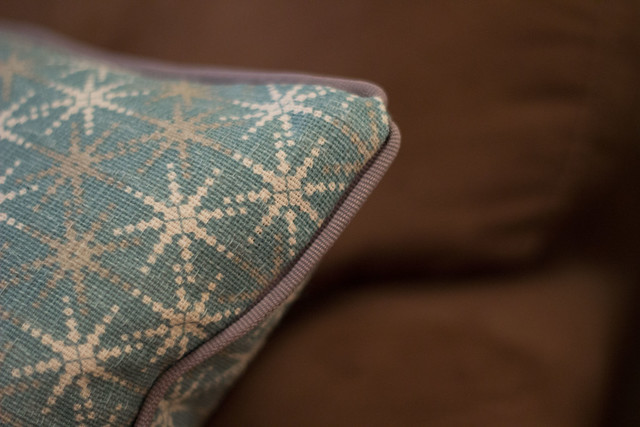 Close Up Couch Cushion Fabric