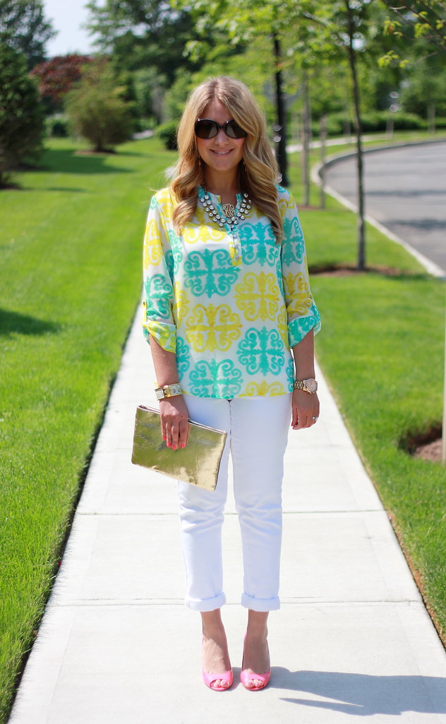 medallion print top Milly for Banana Republic