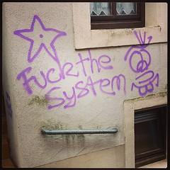 German teenage graffiti