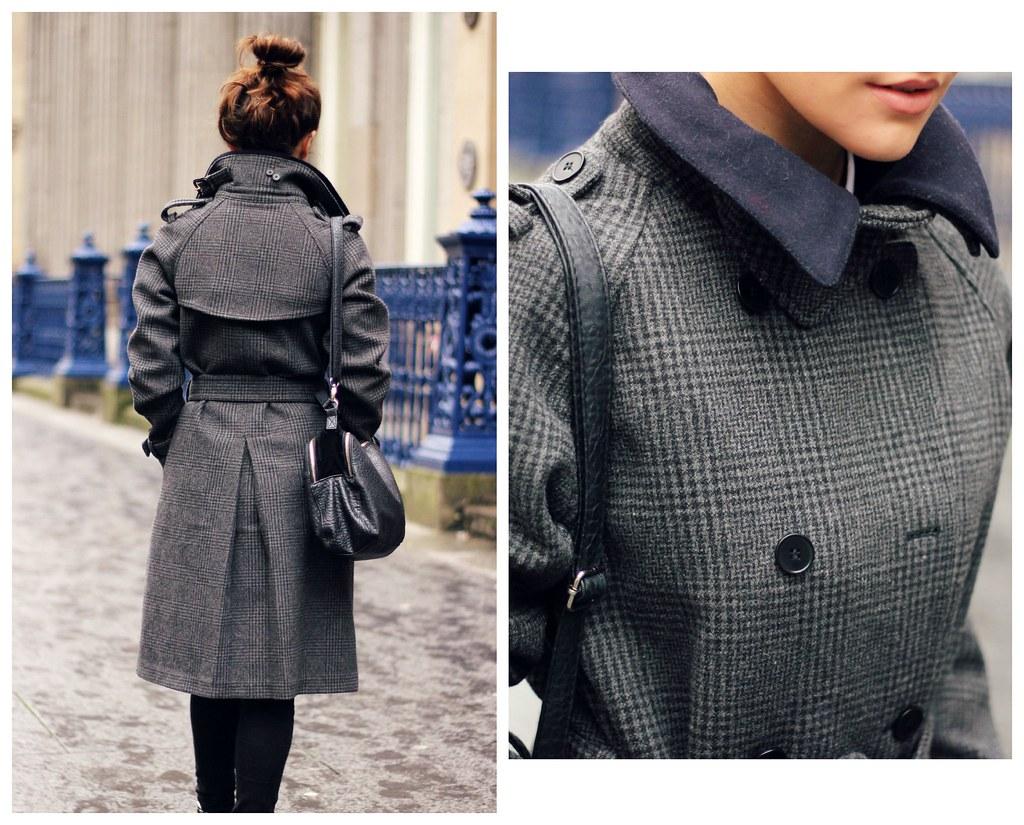 Gant Rugger grey check wool coat 13