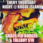 @aquidneck_farms Burger & @gansettbeer Tall Boy Night ! $10 gets you both! Best deal in downtown! Stop in & visit us tonight ! #burgernight #rogueisland #arcadeprovidence #craftbeer #craftnotcrap #supportlocal