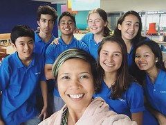 Bless these young people now in blue shirts; they sure know how to make a green shirt teacher's heart melt. Such a special surprise.   Lots of hugs, congratulations and trying to remember poetry terms. Onomatowhat? #lol #7pgu #uwcsea_east #love