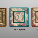 Scripted Vintage Clocks 3D Models