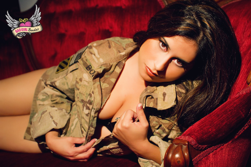 Military Themed Boudoir Outfit Photos
